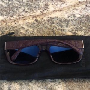 Chanel sunglasses with holder